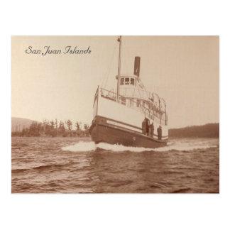 El isleño del barco de vapor postales