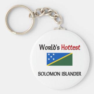 El isleño más caliente de Solomon del mundo Llavero Personalizado