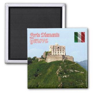 ÉL - Italia - Génova - fuerte Diamante Imán Cuadrado