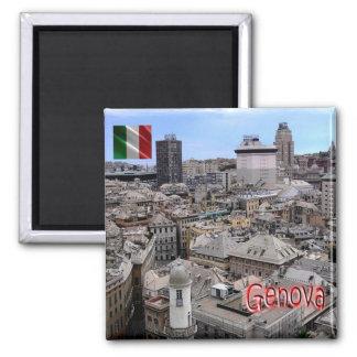 ÉL - Italia - Génova - paisaje urbano Imán Cuadrado