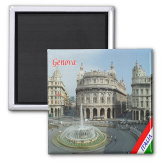 ÉL - Italia - Génova - una opinión Piazza De Imán Cuadrado