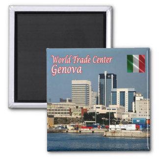 ÉL - Italia - Génova - World Trade Center Imán Cuadrado