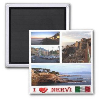 ÉL - Italia - Nervi - amor de I - mosaico del Imán Cuadrado
