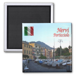 ÉL - Italia - Nervi - el poco puerto Imán Cuadrado