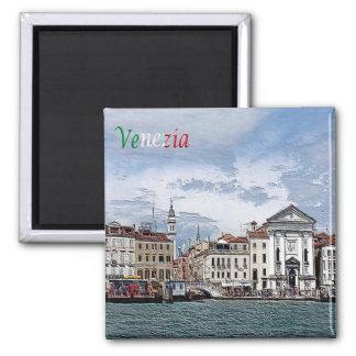 ÉL - Italia - Venecia - Pietà y el campanario Imán Cuadrado