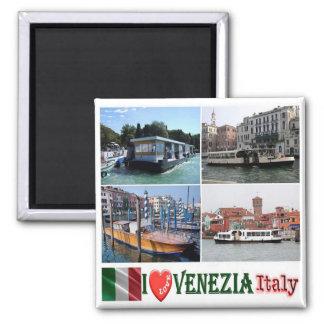 ÉL - Italia - Venecia - transporte público Imán Cuadrado