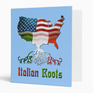 El italiano americano arraiga la carpeta