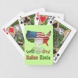 El italiano americano arraiga naipes barajas de cartas