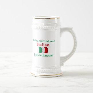 El italiano construye el carácter tazas de café