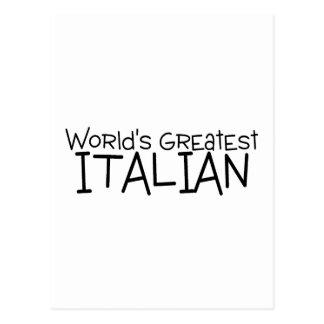 El italiano más grande de los mundos tarjeta postal