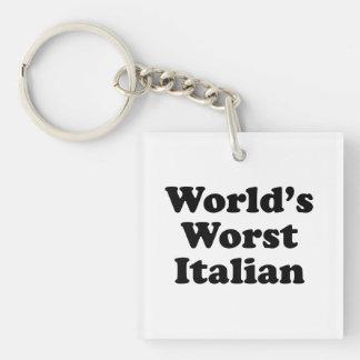 El italiano peor del mundo llavero cuadrado acrílico a una cara