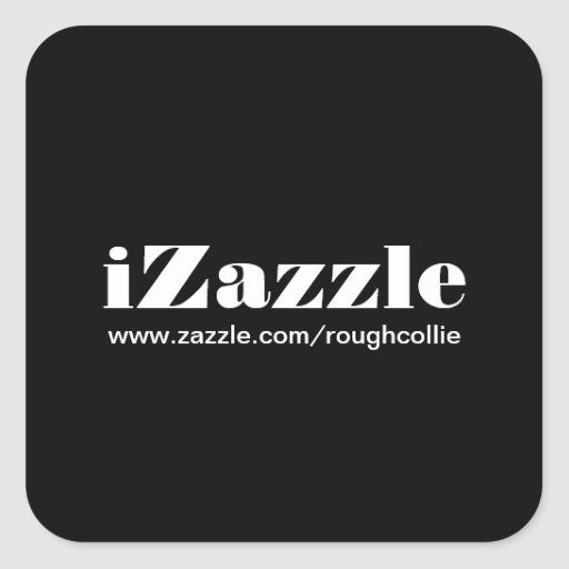 el iZazzle etiqueta personalizado para promover su