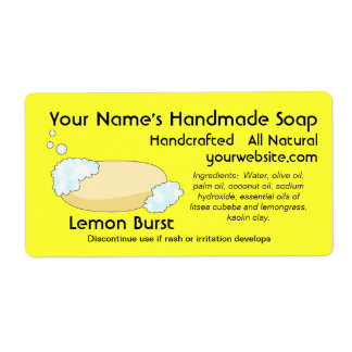 El jabón natural hecho en casa fresco etiqueta la etiqueta de envío