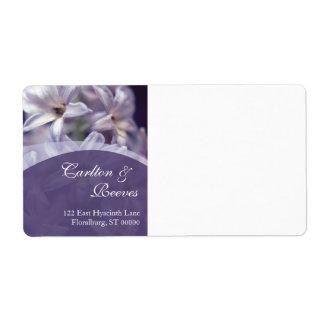 El jacinto florece envío etiqueta de envío