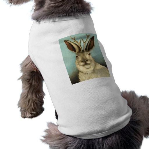 El Jackalope real Camiseta De Perro
