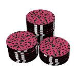 El jalapeno rosado sazona el modelo con pimienta juego de fichas de póquer