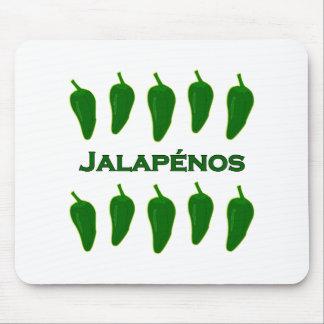 El Jalapeno sazona con pimienta (titulado) Mouse Pad