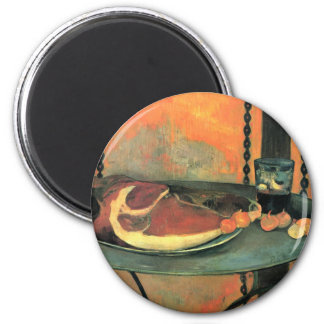 El jamón - Paul Gauguin Imán Redondo 5 Cm