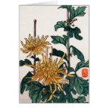 El japonés amarillo florece no.1 tarjetón
