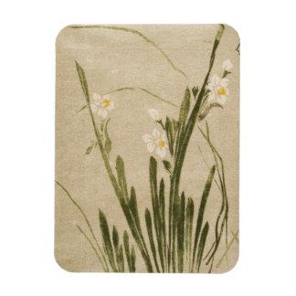 El japonés clásico del ukiyo-e del vintage florece imán flexible