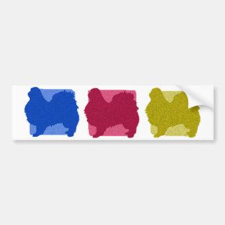 El japonés colorido Chin siluetea a la pegatina pa Pegatina Para Auto