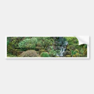 El japonés cultiva un huerto Portland, Oregon Pegatina De Parachoque