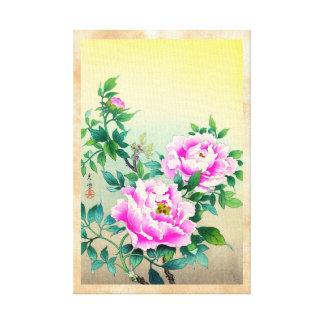 El japonés de los Peonies de Tsuchiya Koitsu flore Impresion De Lienzo
