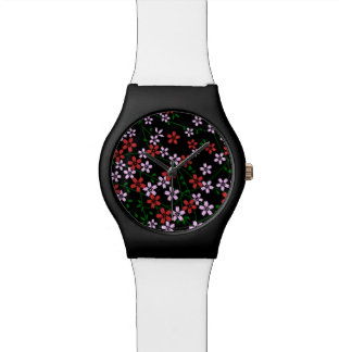 El japonés inspiró rojo persa y el sakur rosado de relojes de mano