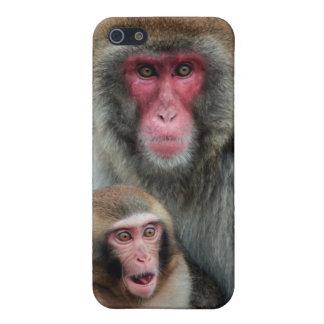 El japonés Monkeys el caso mate del final del iPho iPhone 5 Protectores