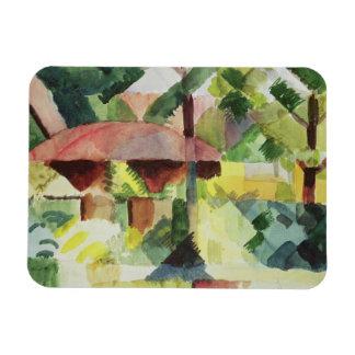 El jardín, 1914 (w/c en el papel) imán foto rectangular