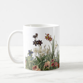 El jardín botánico del vintage florece la taza de