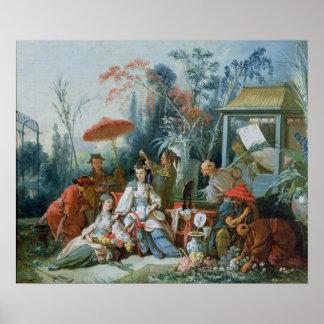 El jardín chino, c.1742 posters