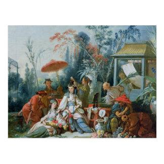 El jardín chino, c.1742 postal