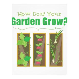 El jardín crece membrete
