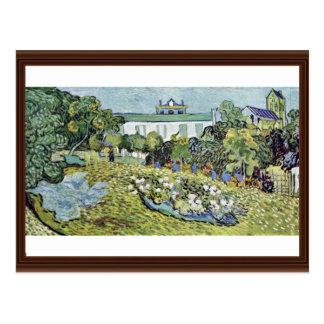 El jardín Daubigny de Vincent van Gogh Tarjetas Postales