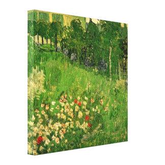 El jardín de Daubigny de Vincent van Gogh Impresion En Lona