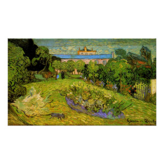 El jardín de Daubigny de Vincent van Gogh Póster