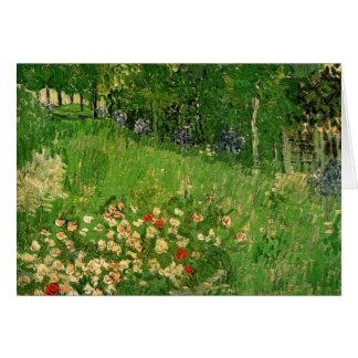 El jardín de Daubigny de Vincent van Gogh Tarjeta Pequeña