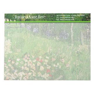 El jardín de Daubigny, Vincent van Gogh. hermoso Bloc De Papel