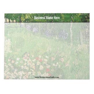 El jardín de Daubigny, Vincent van Gogh. hermoso Blocs De Notas