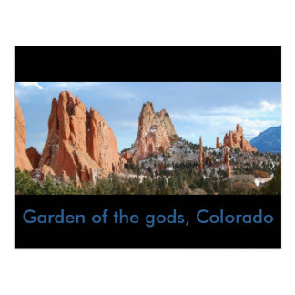 El jardín de dioses copia, el jardín de dioses, postal