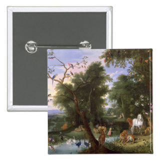 El jardín de Eden, 1659 Pin Cuadrado