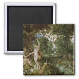 El jardín de Eden con la caída del hombre, c.1615 Imán Cuadrado