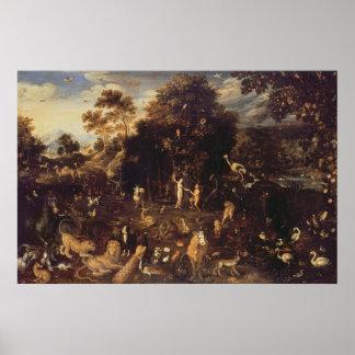 El jardín de Eden Póster