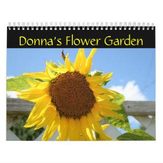 El jardín de flores de Donna Calendario