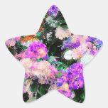 El jardín de flores de la mamá pegatina en forma de estrella