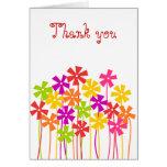 El jardín de flores le agradece cardar tarjeta
