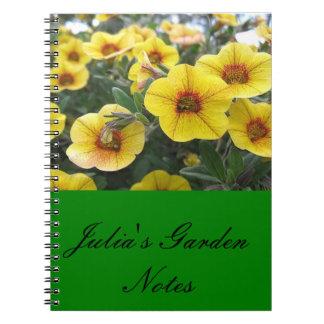 El jardín de Julia observa el cuaderno