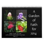El jardín de la fe, 2014 hace calendarios, con calendario