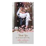 El jardín de la flor de cerezo le agradece foto tarjeta fotografica